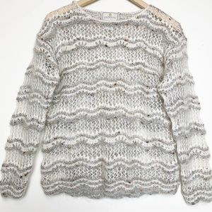 Express hand knitted open weave sweater